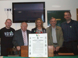 Jeff O'Carroll, Bernard Morgan, Amanda McTaggart, Tommy Walsh and Neil Doolin