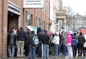 PASSPORT OFFICE DUBLIN: Civil servants are refusing to help people emigrate