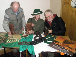 Members of the Tyrone Sinn Féin Commemoration Committee busily preparing for Easter. Sean Donnelly, Barry McNally and Stan Corrigan