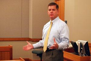 State Representative Martin Walsh, who, along with Senator Steve Tolman, proposed the united Ireland motion in the Massachusetts legislature