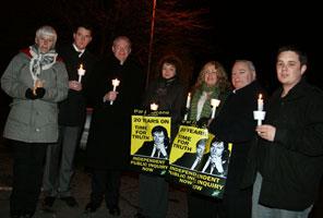 Sinn Féin representatives and John Finucane