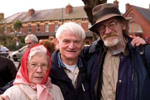 Marian Steenson, Jim Monaghan and Jer O'Leary