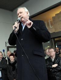 Jimmy Kelly, Irish Regional Secretary of Unite