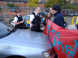 Protesters blockad the Bacton gas terminal
