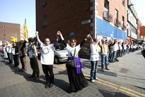 The Arms Around Moore Street protest last April