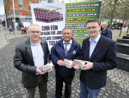 Joe Kelly, Councillor Pat Fitzgerald and Councillor David Cullinane