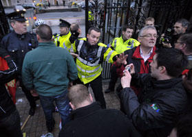 • BATONED: Gardaí hitting protesters outside Leinster House on Tuesday night