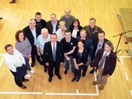 NEWRY AND ARMAGH: Conor Murphy and his election team