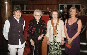 honourees: Rose Dugdale, Susan McGillion, Padraigín Uí Mhurchadha and Eibhlin Glenholmes
