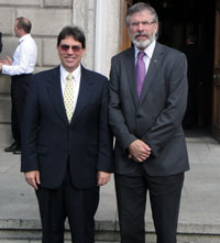 Gerry Adams with Cuban Foreign Affairs Minister Bruno Rodríguez Parrilla
