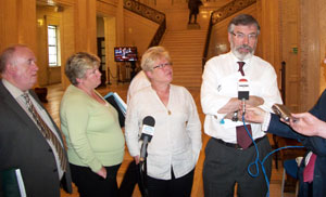 The Sinn Féin delegation that met with David Ford